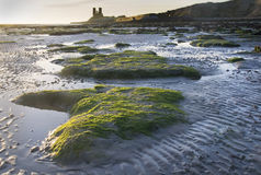Sunrise over Reculver. Beach in Kent England Royalty Free Stock Photography