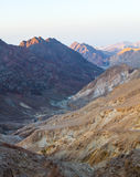 Sunrise over Red sea. Early morning in ancient mountains of Sinai desert. Sunrise over Red sea Royalty Free Stock Image