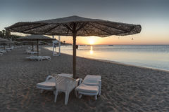 Sunrise over the Red Sea from Hurghada Stock Photography