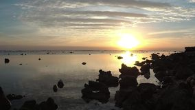 Sunrise over the Red Sea, Marsa Alam. Egypt stock footage