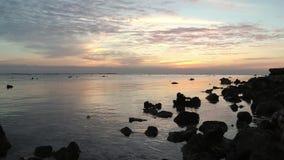 Sunrise over the Red Sea, Marsa Alam. Egypt stock video footage