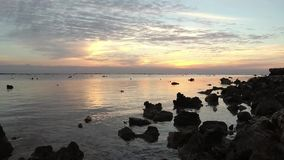 Sunrise over the Red Sea, Marsa Alam stock footage