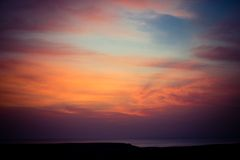 Sunrise over Red sea. Sun is rising over Red sea in Egypt Royalty Free Stock Image