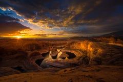 Sunrise over Reflection Canyon Stock Photography