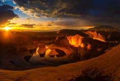 Sunrise over Reflection Canyon Royalty Free Stock Photography