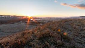 Sunrise over the river Ebro Stock Image
