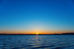Sunrise over river Royalty Free Stock Photography