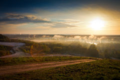 Sunrise over the river Stock Photography