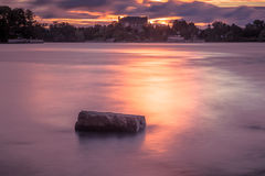 Sunrise over river Royalty Free Stock Image