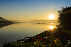 Sunrise over the river Royalty Free Stock Images