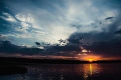 Sunrise over the river washing. (copyright toning Stock Images