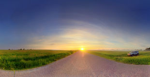 Sunrise over road Royalty Free Stock Image