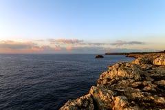 Sunrise over the rocks Stock Image