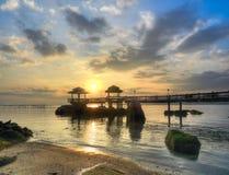 Sunrise over Rocky Beach Stock Images