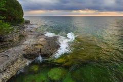 Sunrise Over Rocky Coastline Royalty Free Stock Photo