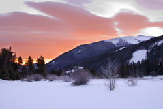Sunrise over Rocky Mountain. Near Keystone CO Royalty Free Stock Photo