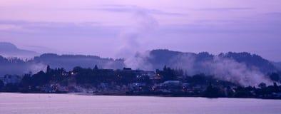 Sunrise over Rotorua - New Zealand Royalty Free Stock Photos