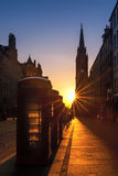 Sunrise over the Royal Mile, Edinburgh Stock Photo