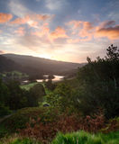 Sunrise over Rydal Water in Lake District Stock Image