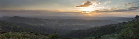 Sunrise over Saddleback Mountains Stock Images