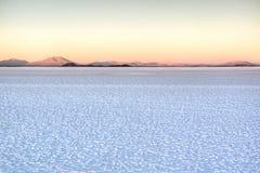 Sunrise over the saltflates Stock Image