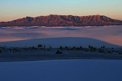 Sunrise over the San Andres Moutains, White Sands Stock Images