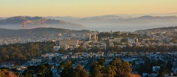 Sunrise over San Francisco. San Francisco seen from Twin Peaks during sunrise Royalty Free Stock Photography