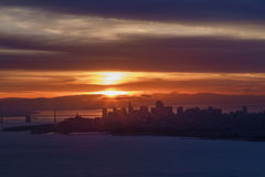 Sunrise over San Francisco Stock Photo