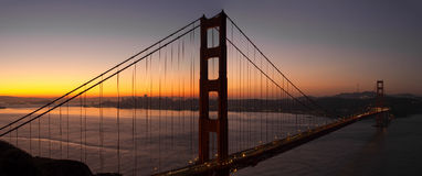 Sunrise Over San Francisco Golden Gate Bridge Stock Photography