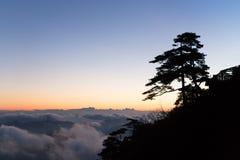 Sunrise over san qing mountain China Stock Photography