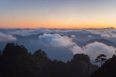 Sunrise over san qing mountain China Stock Photo