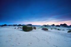 Sunrise over sand dunes Stock Photography
