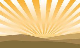 Sunrise. Over sand grounds background illustration stock illustration