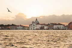 Sunrise over Santissimo Redentore Church near Venice, Italy Stock Images