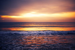 Sunrise over sea Stock Images