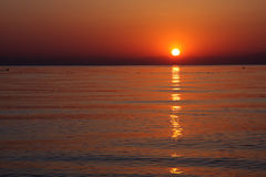 Sunrise over sea. Stock Photography