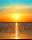 Sunrise over sea. Beauty landscape with sunrise over sea Royalty Free Stock Photography