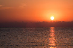 Sunrise over the sea Royalty Free Stock Image