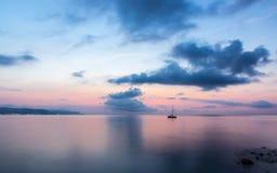 Sunrise over the sea. Horizontal Royalty Free Stock Photos
