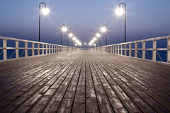 Sunrise over the Sea. Sunrise over the Baltic Sea, pier at the seaside royalty free stock image