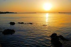 Sunrise over the sea. In Crimea stock image