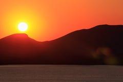 Sunrise over the sea. Crimea. stock photos