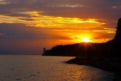 Sunrise over the sea. Royalty Free Stock Image