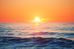 Sunrise over sea Royalty Free Stock Photos