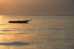 Sunrise over the sea. Photo of an african sunrise over the sea Stock Images