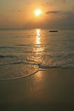 Sunrise over the sea. Photo of an african sunrise over the sea Royalty Free Stock Images