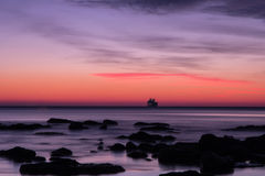 Before sunrise over the sea Stock Image