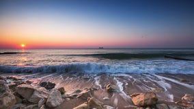 Sunrise over sea stock video