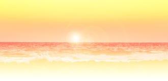 Sunrise over the sea. Beautiful red sunrise over the sea Stock Photos