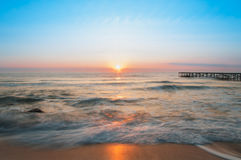 Sunrise over sea. royalty free stock photos